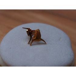 Boucles d'oreilles plaqué or Colibri