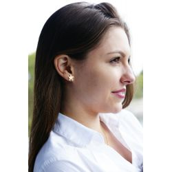 Boucles d'oreilles plaqué or Etoile de mer - femme