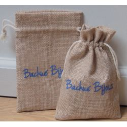 packaging bijoux - pochette en jute