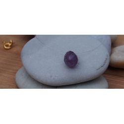 Collier ras du cou goutte d'améthyste violet femme chic