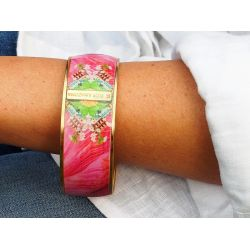 Bracelet cerclé porté plaqué or Havanna Peacock Flor Amazona
