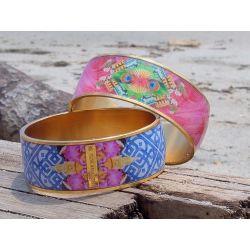 Bracelets cerclés plaqué or colorés-Flor Amazona