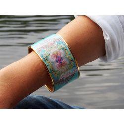 Bracelet cerclé Neptune treasures femme porté - Flor Amazona