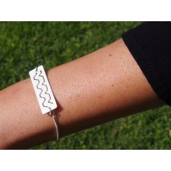 Bracelet ethnique plaqué argent Watis