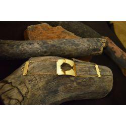 Bracelet ethnique plaqué or poisson Fihisca chic