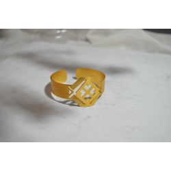 Bracelet ethnique plaqué or Fleur de cocorilla chic
