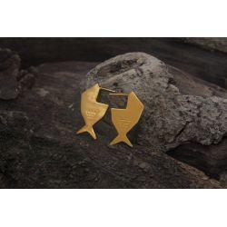 Boucles d'oreilles ethniques plaqué or Fihisca chic