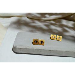 Boucles d'oreilles ethniques plaqué or Dividivi chic