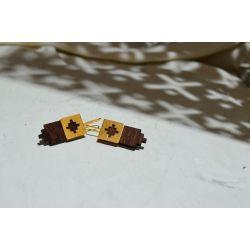 Boucles d'oreilles ethniques en bois foncé Mexion chic