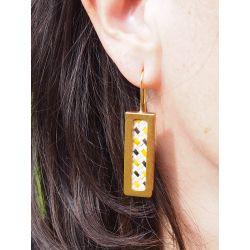Boucles d'oreilles ethniques plaqué or Mexion