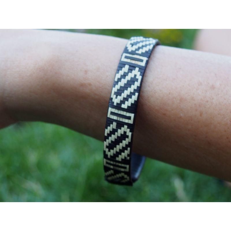 """Bracelet ethnique """"Caña Flecha"""" 1,2 cm - modèle 4"""