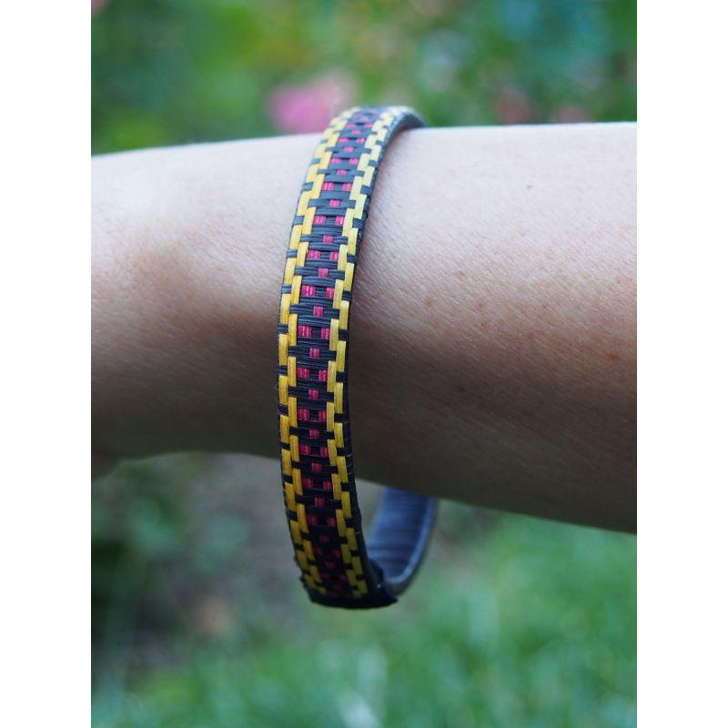 """Bracelet ethnique """"Caña Flecha"""" 7 mm"""