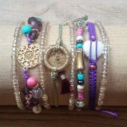Bracelet fantaise multi-tours femme