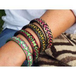 """Bracelet ethnique """"Caña Flecha"""" 1,2 cm"""