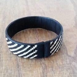 """Bracelet ethnique """"Caña Flecha"""" 1.5 cm - fermeture"""