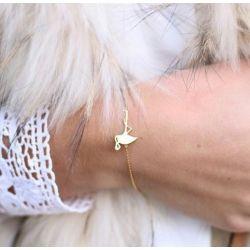 Bracelet fin doré flamant Flor Amazona
