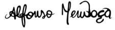 Signature Alfonso Mendoça